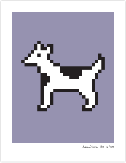 Old school Mac icons, now as artwork. Yes, including Moof.