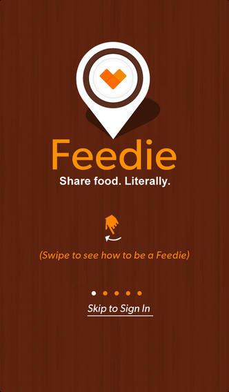 The Feedie app helps you feed the hungry while feeding yourself