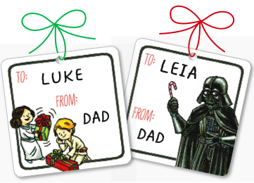 Free Star Wars gift tags you can print with your own droid
