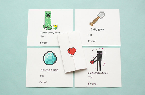 This Valentines Day Wont You Be Minecraft – Cool Valentines Day Card