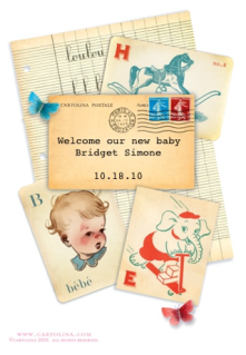 Gorgeous baby announcements right from your smart phone