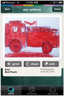 Storing kids' artwork? There's an app or two for that.