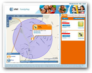 AT&T FamilyMap – reach out and track someone