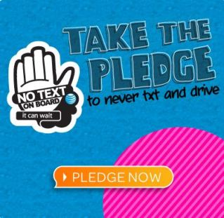 """Stopping texting and driving with a simple pledge: """"It can wait."""""""