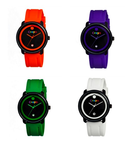 Crayo watches inspired by many colors. Not to be confused with those crayons of many colors.