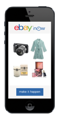 Instant shopping gratification, thanks to eBay Now