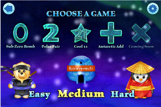 An educational app to teach kids math, ninja style