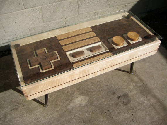 This Nintendo controller table's got game.