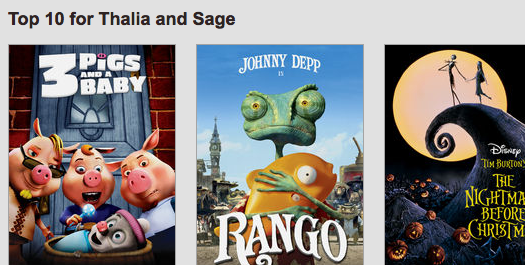 Netflix creates individual profiles on your account. This is a very very good thing.