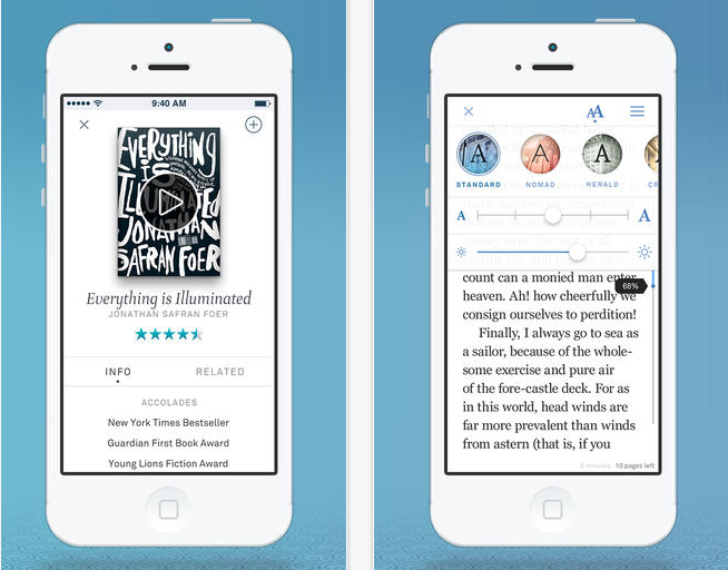Oyster ereader subscription: Like a Netflix for books only this time for real.