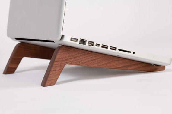 High tech goes low tech with these gorgeous laptop stands