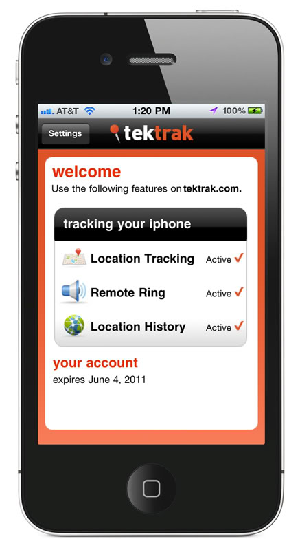 Lojack for your cell phone – that's TekTrak