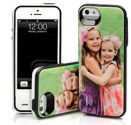 The coolest battery charging case. Because it has your custom photo on it.