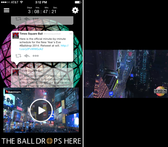 The Times Square Ball App: Because falling asleep early should be the only reason to miss the ball drop