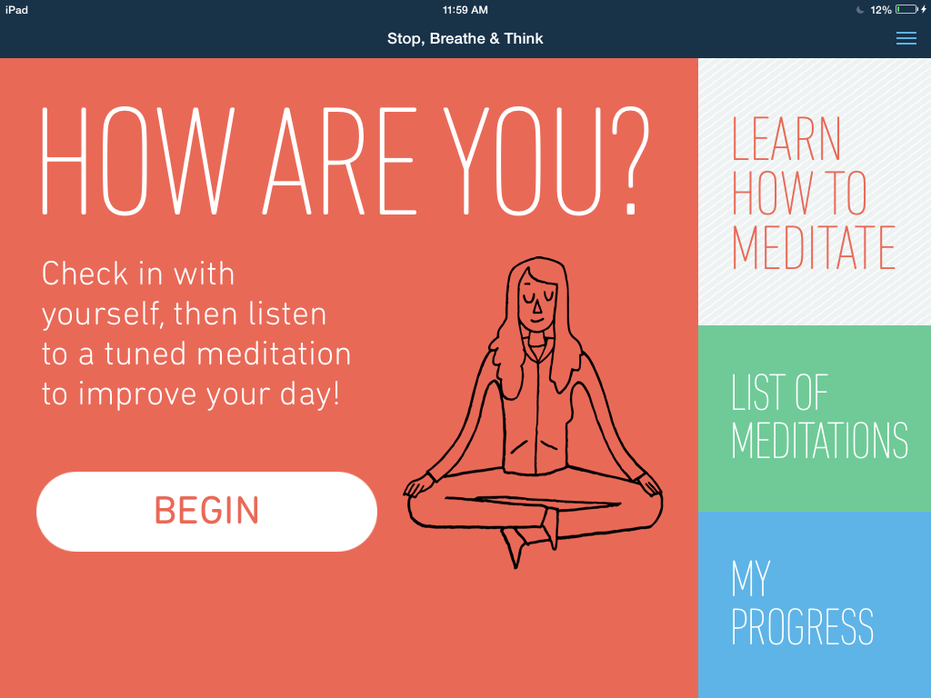 Serenity now! A free meditation app offers help for busy modern parents and their kids.