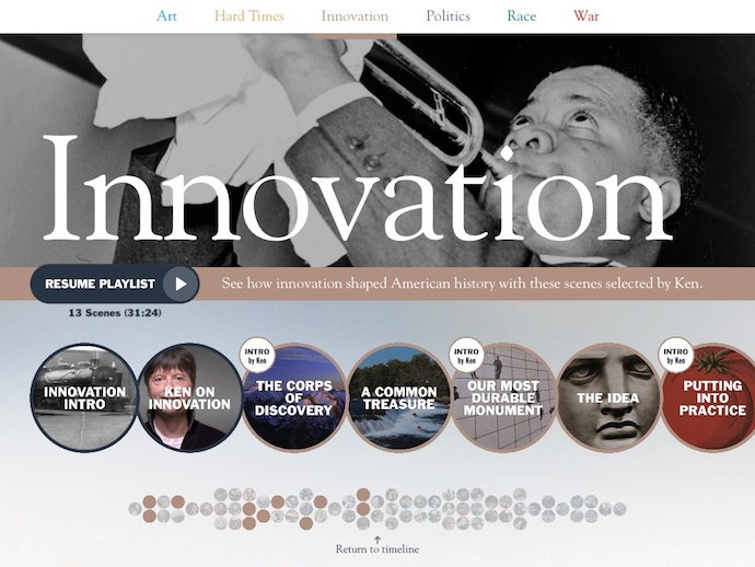 Ken Burns' new app takes his docs to digital