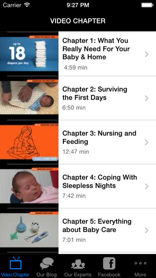 A mobile app for new parents. Nervous, tired new parents.