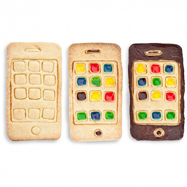 How to make iPhone cookies. Sweet.