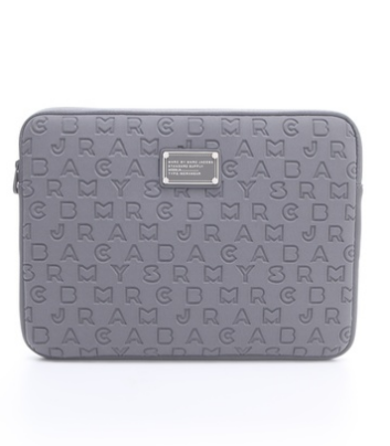 The Marc Jacobs laptop sleeve gets a touch of gray