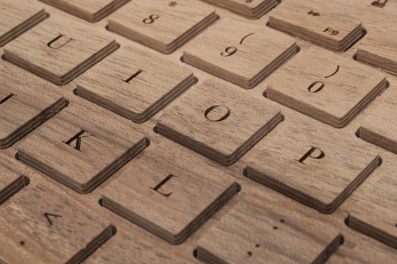 A bluetooth keyboard carved just for you