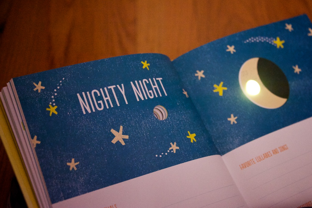 A baby journal book that glows as your child grows