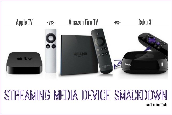 Apple TV vs Roku vs Amazon Fire TV:  A triple streaming media device smackdown