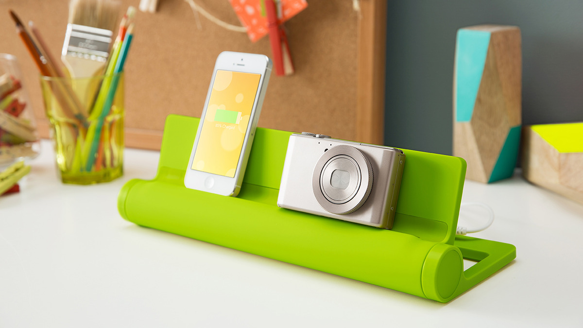 A charging station that keeps you organized and actually, kind of happy