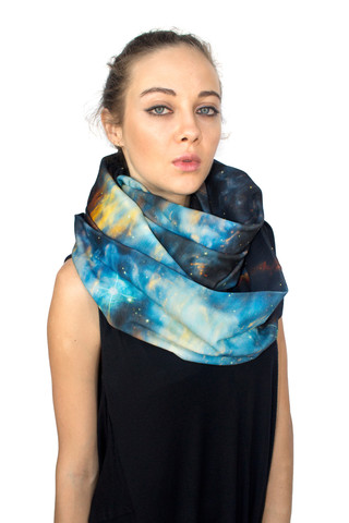 Cool geek accessories alert: Stylish scarves that are out of this world. (Couldn't help ourselves.)