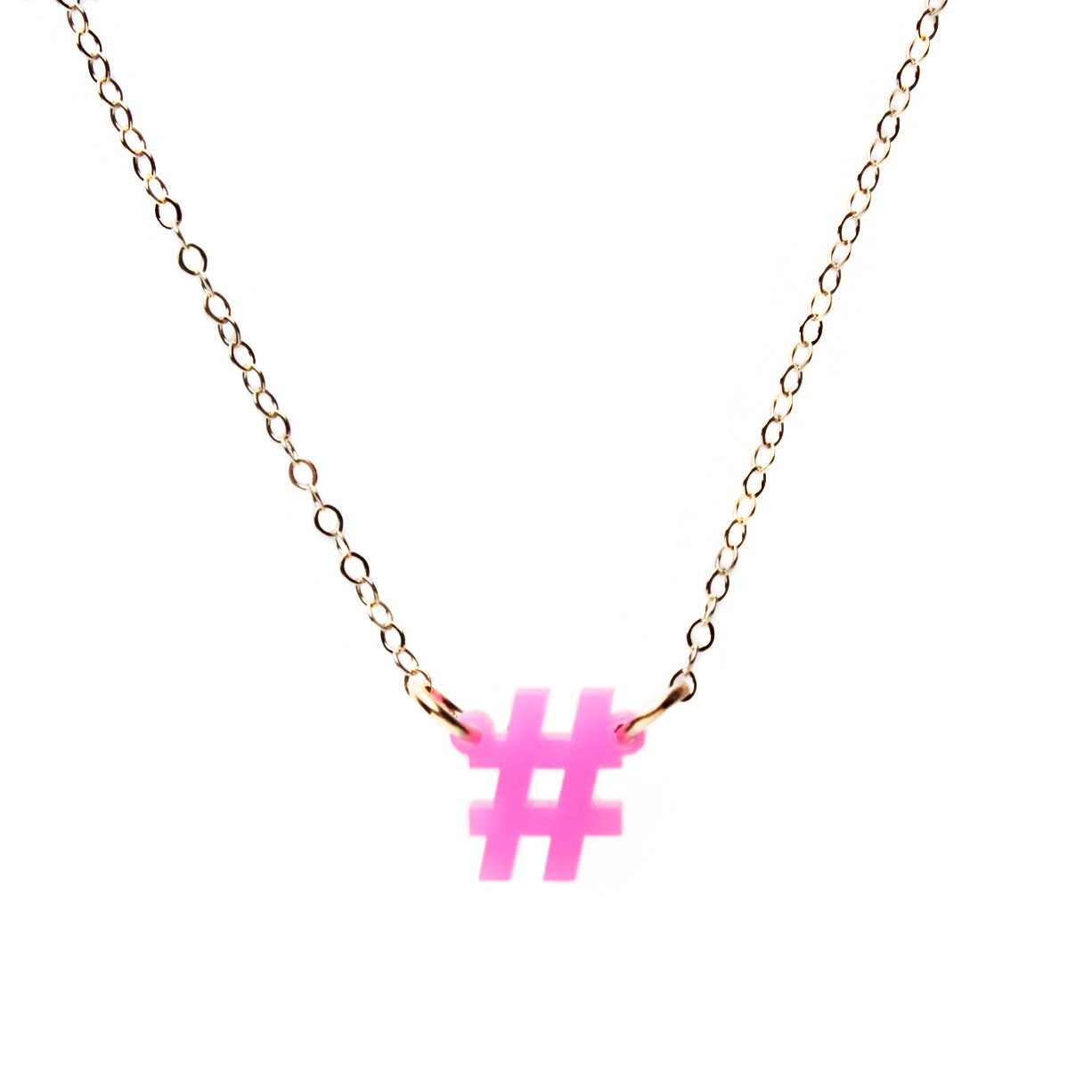 The mini hashtag necklace: Wear your love of social media around your neck