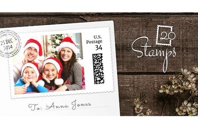 20Stamps: Cool customized photo stamps for the holidays and beyond