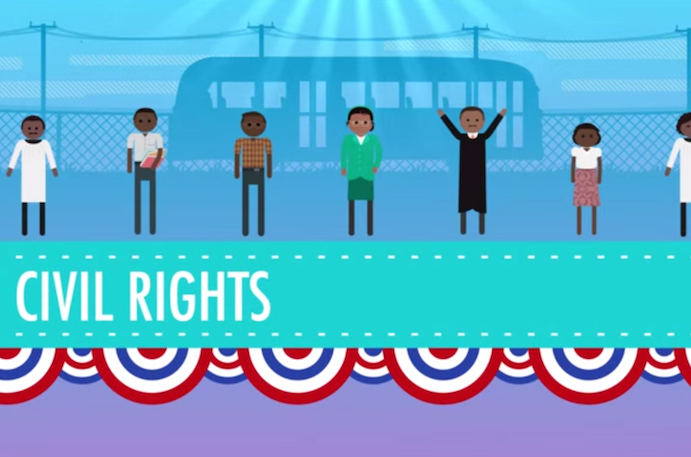 MLK Day resources for kids: Crash Course US History videos bring the civil rights movement to life