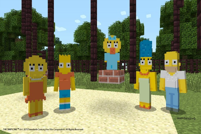 The Simpsons on Minecraft Xbox: Eat my shorts, creepers.