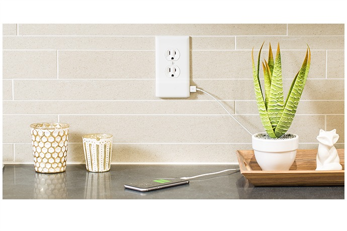 A USB electrical outlet that's easy to install and easy on your wallet. We'll take one in every room.