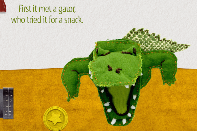 An interactive storybook app for iPad with all the animals, none of the crowds