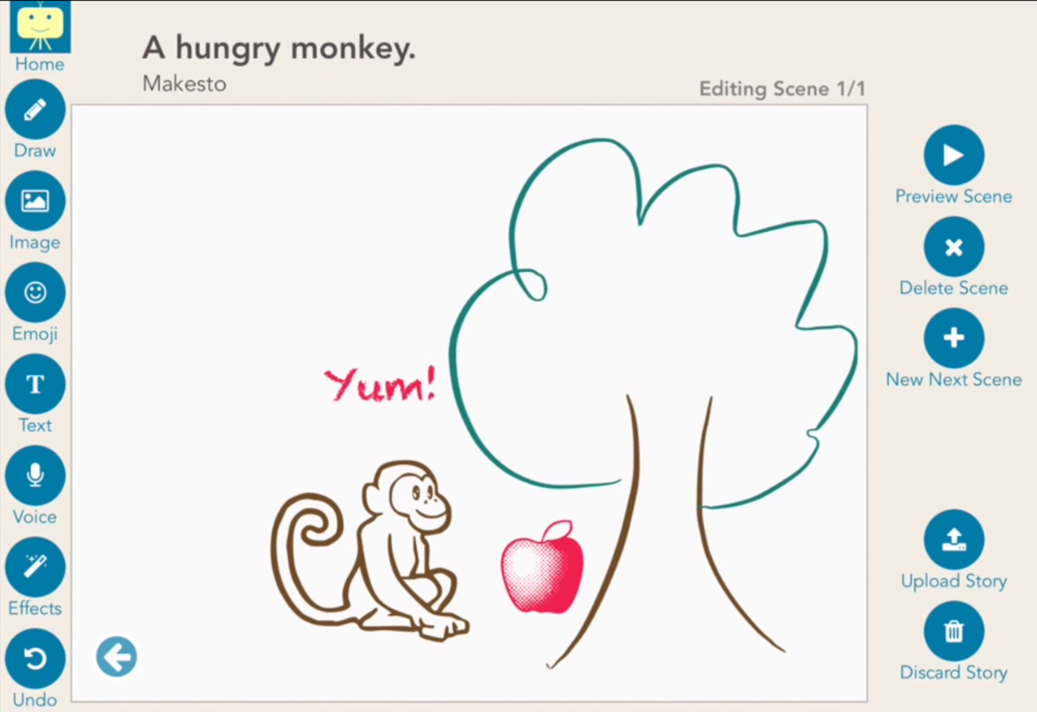 Makesto is a sweet, free storytelling app to let kids' imaginations run wild