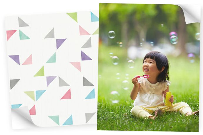 Snapbox Peel and Stick Fabric Posters: A cool new way to display favorite pics without that toxic vinyl smell.