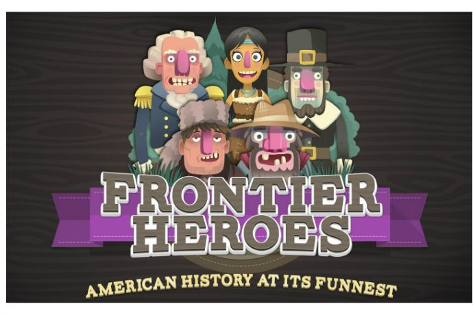 Play your way through early American history with Frontier Heroes app for kids