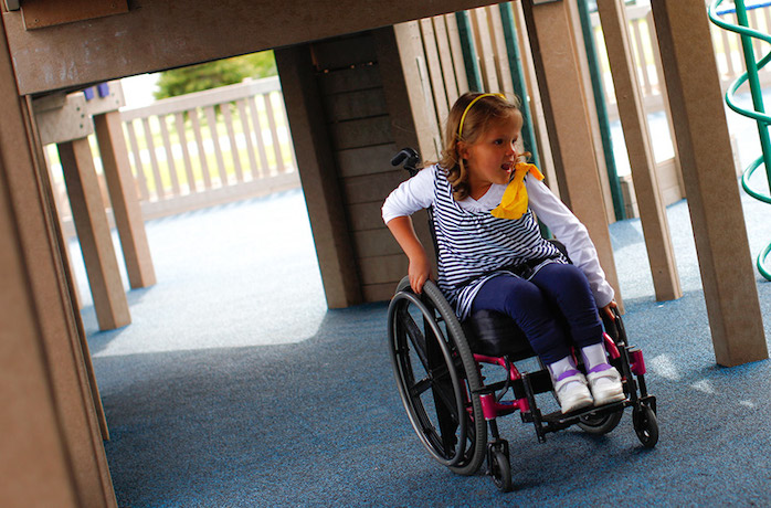 Accessible playgrounds for kids, on demand. Thanks, internet!