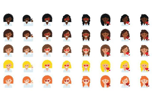 Curly-haired emojis: Because why should straight-haired girls have all the emoji fun?