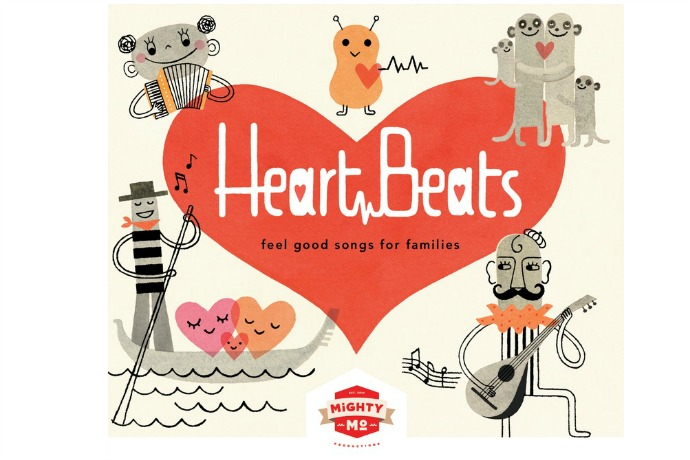 Kids' music for Valentine's Day: Heart Beats is ultimate cool compilation, nothing sappy.
