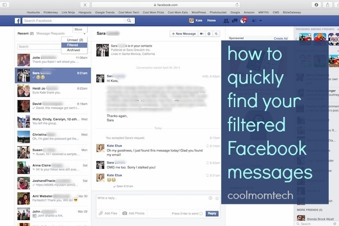 How to find your hidden Facebook messages. Because yep, you've got some.