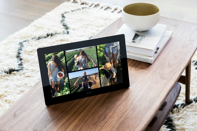 Joy gets your photos and video off your phone and onto an interactive digital album