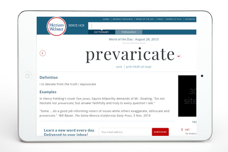 Merriam-Webster's informative (and sometimes snarky) free dictionary app