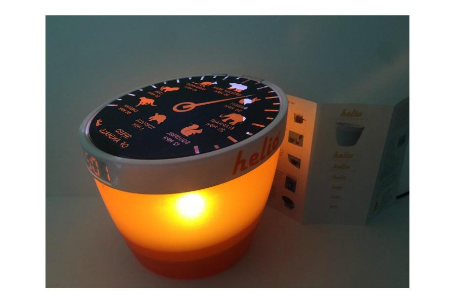 The Helio nightlight helps your kids learn as they fall asleep
