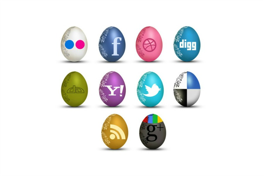 Web Coolness: Social media icon Easter eggs, the Facebook color updates, and kids and social media. Ahhhhh!