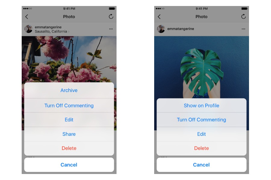 Instagram's new Archive feature lets you hide photos, rather than delete them. Brilliant!