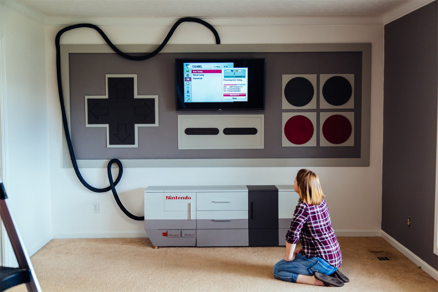 Web Coolness: a Nintendo-themed game room, LED eyelashes, how to make your own smart speaker, and more