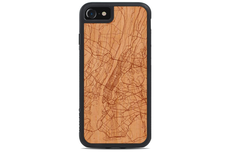 iPhone 8 Cases: Carved Custom Map