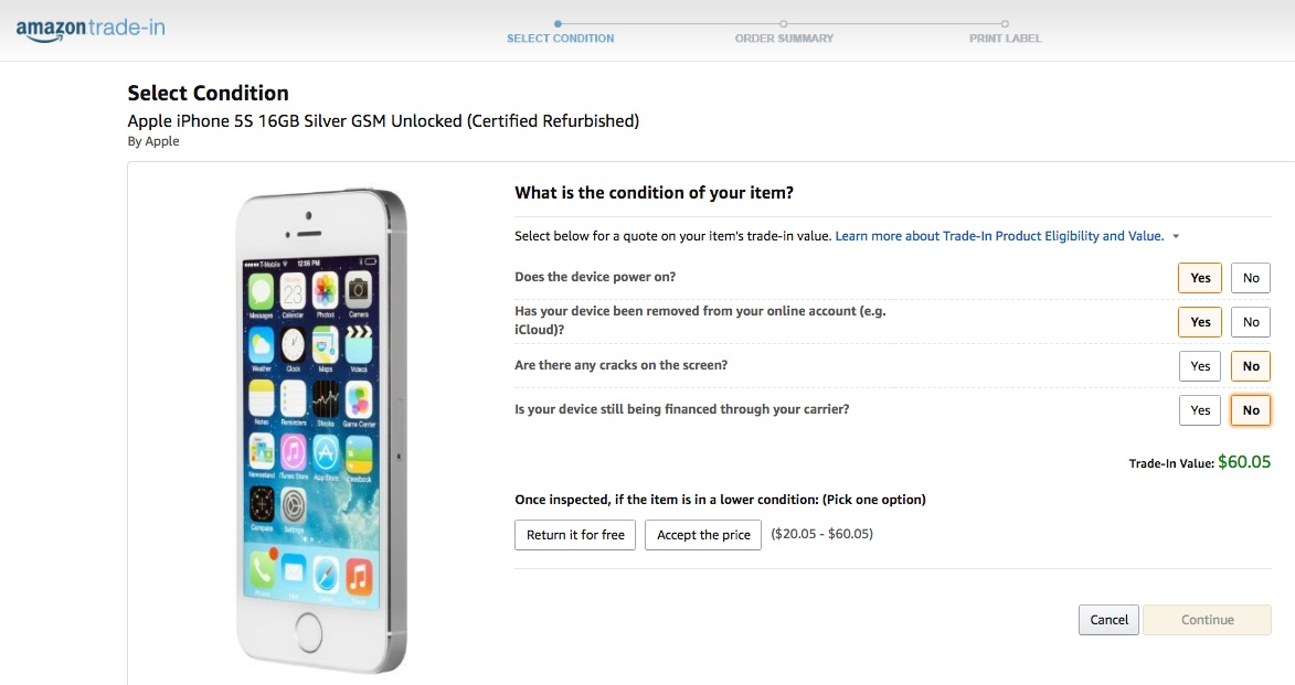 Here's how much you can get for your old iPhone: Amazon Trade-in