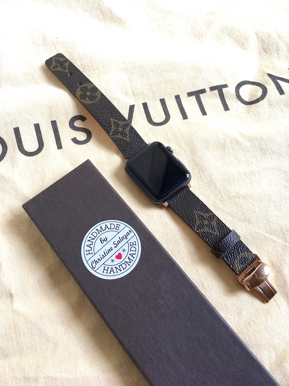 Best Apple Watch accessories: Authentic, custom Louis Vuitton bands at CC Luxe on Etsy | Holiday Tech Guide 2017